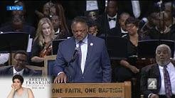 Rev. Jesse Jackson delivers remarks at Aretha Franklin funeral