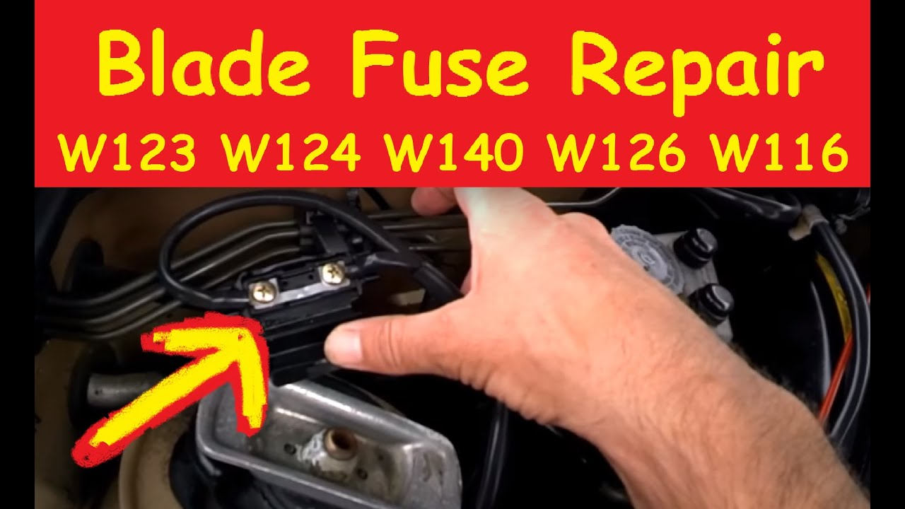 medium resolution of w123 fuse box wiring diagramblade fuse repair diy tutorial fix mercedes w124 w126 w123 fixesblade fuse