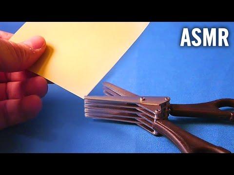 [ASMR] Five-Bladed Scissors cutting paper ✂