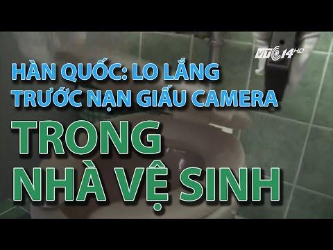 (VTC14)_Hàn Quốc: lo lắng trước nạn giấu camera trong nhà vệ sinh