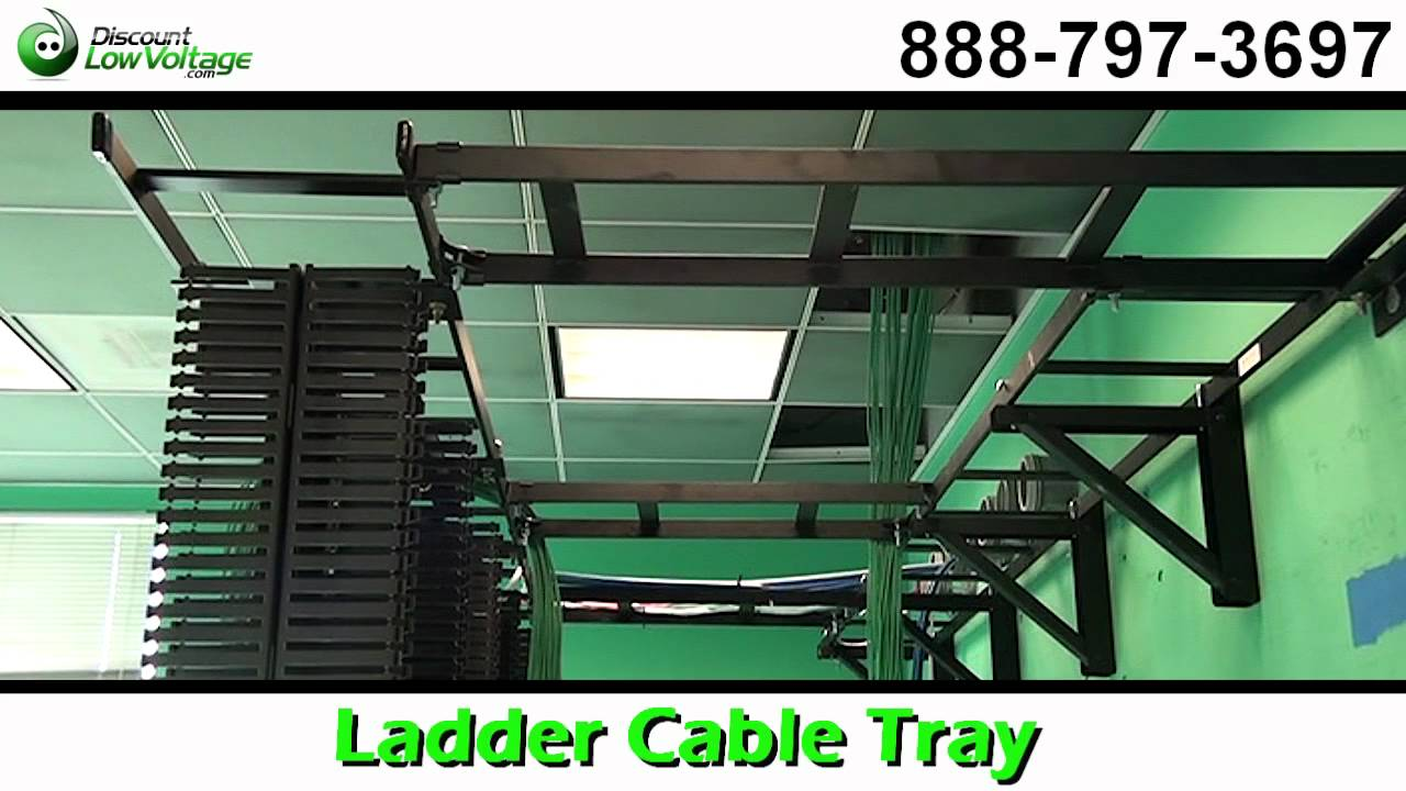 Ladder Cable Tray for Cat5e, Cat6 Fiber Cable Management - YouTube