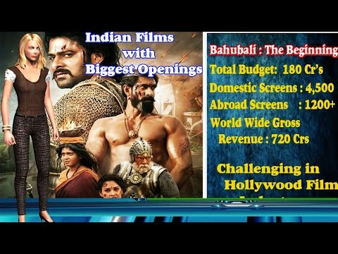 Indian Film with Biggest Openings - Bahubali Biggest Collection in World
