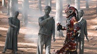 Power Ranger Super Dino Charge | Batalla con Badussa - Los Rangers se convierten en piedra