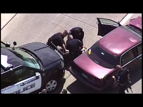 WATCH: Bank robbery suspect arrested after police pursuit, crash in south KC metro