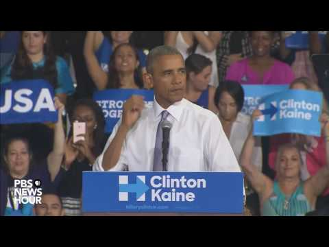 President Obama stumps for Hillary in Miami