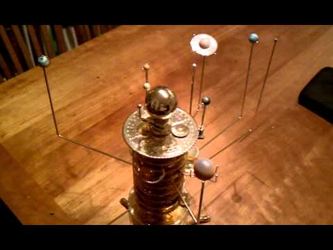 Build a Model Solar System orrery in action - YouTube
