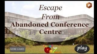 Escape From Abandoned Conference Centre Escape 007 Games Walkthrough