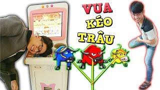 Tony   Thử Thách Chơi KÉO BÒ Bằng Cơ Thể  - Play Game In Supermarket