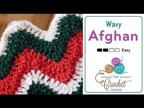 How to Crochet An Afghan: Wavy Afghan