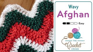 How to Crochet An Afghan: Wavy Afghan