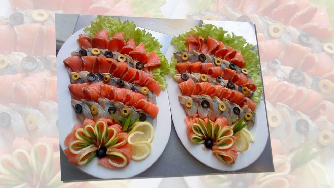 как правильно резать красную рыбу на стол