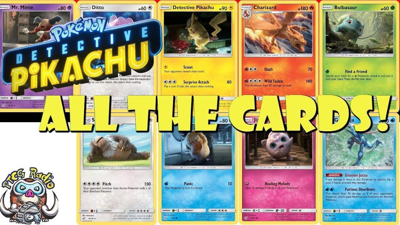 Every Detective Pikachu Card New Mini Set Pokemon Tcg Youtube