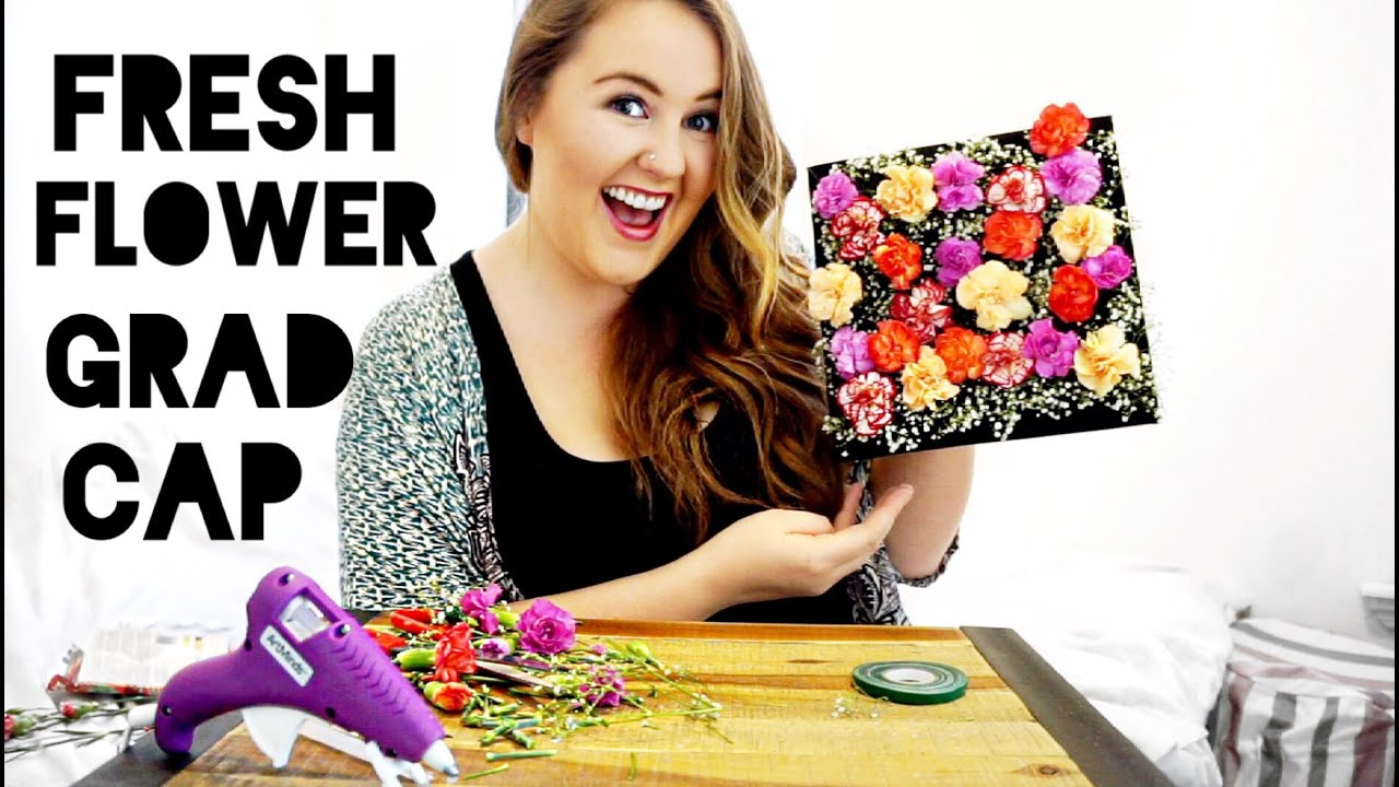 Fresh Flower Cap DIY Graduation Cap Decorating