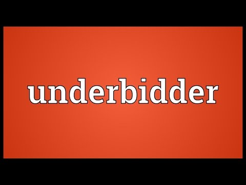 Header of underbidder