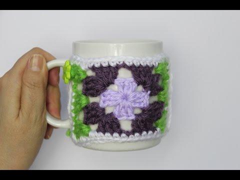 Adorno para taza de cafe en crochet