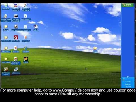 Windows XP - Moving The Toolbar