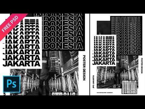 Typography Poster Style Jakarta JPO - Tutorial Photoshop 2020