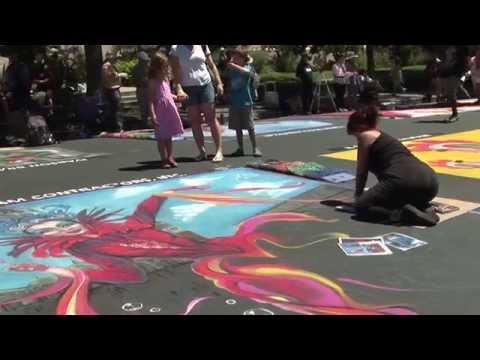 Italian Street Painting Festival - Marin County 2015