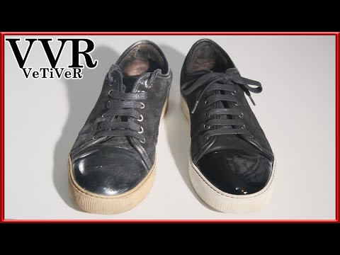 "[ASMR] Clean & restore ""LANVIN"" ""Patent Leather"" SNEAKERS  - 4k"