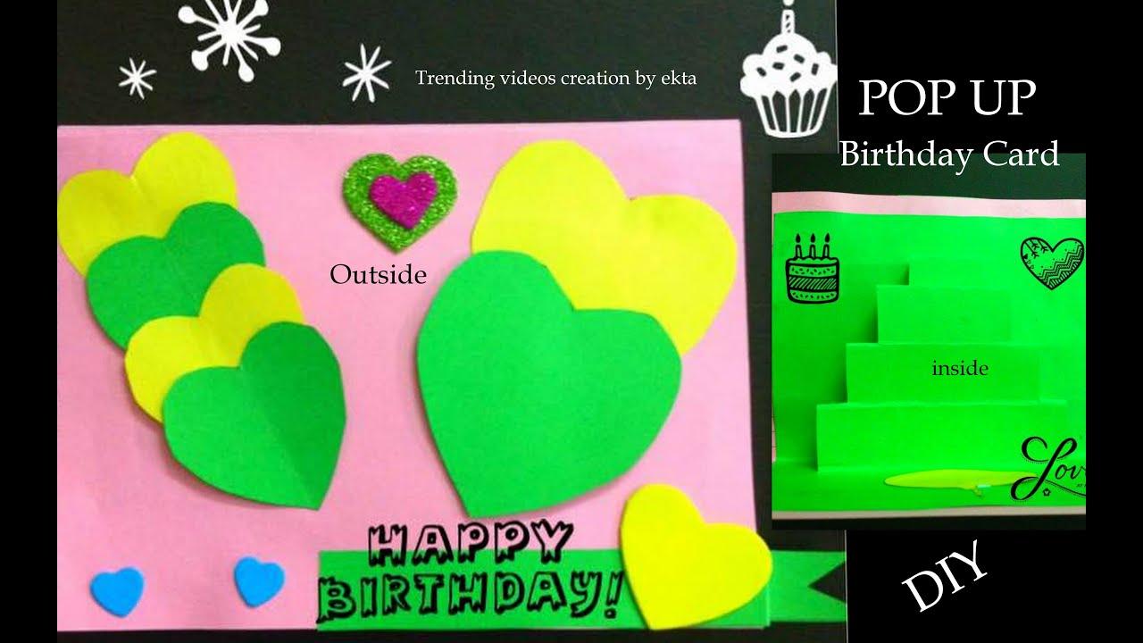 Birthday Card Paper and Handmade Beautiful