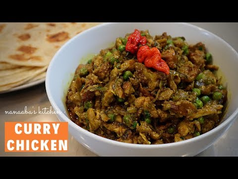 How to make Quick, Easy and Tasty CURRY CHICKEN - Nanaabas Kitchen I Stir Fry Chicken