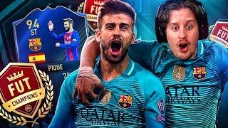 BARCA STRIQUE! THE IMPOSSIBLE TOTY STRIKER PIQUE FUT CHAMPIONS CHALLENGE! FIFA 17 ULTIMATE TEAM
