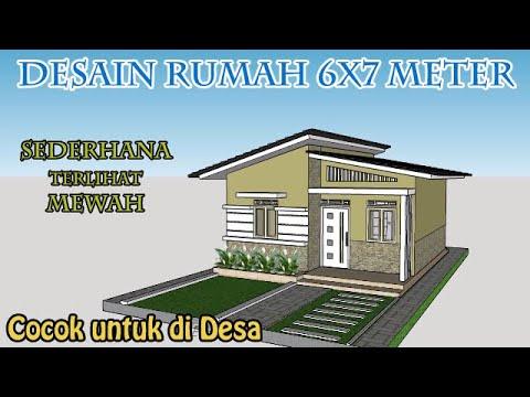 desain rumah 6x7 , desain rumah untuk di desa terlihat