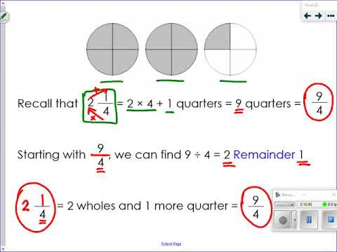 NS 7-21b Mixed Numbers and Improper Fractions Part 2 thumbnail
