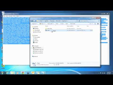 Adding HTML Signatures To Outlook 2010
