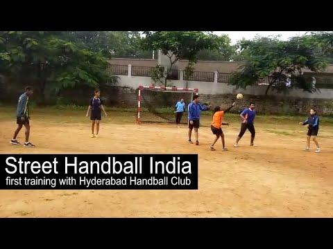 Street Handball India First training with Hyderabad Handball Club