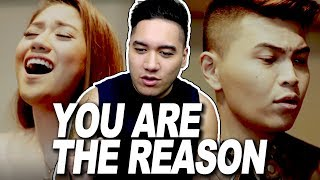 Daryl Ong & Morissette Amon - You Are The Reason (Calum Scott Cover) REACTION!!!