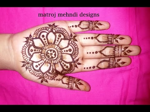 simple easy mehndi designs for hands-easy henna design on hands tutorials