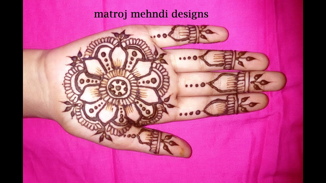 Easy Mehndi Tutorial : Simple easy mehndi designs for hands henna design on