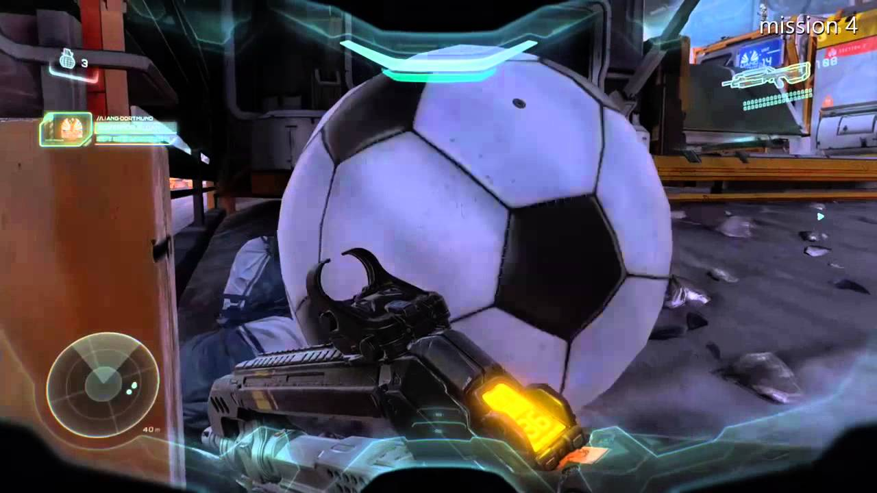 pallone calcio halo 5 easter egg