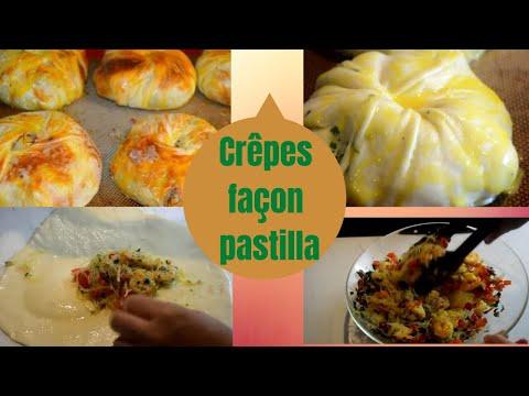 Recette marocaine-Crêpes farcies aux crevettes