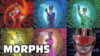 Power Rangers Time Force - All Ranger Morphs | Episodes 1-40 | It