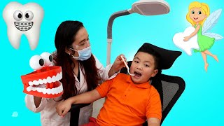 Alex Pretend Play Going To The Dentist | Tooth Fairy Story for Kids