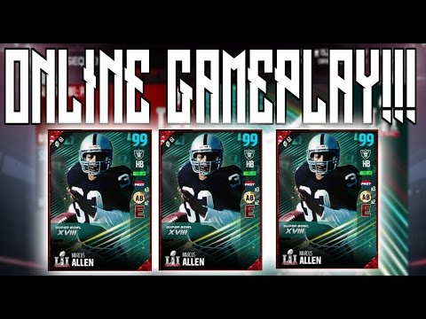 NEW 99 OVERALL SUPER BOWL LEGEND MARCUS ALLEN GAMEPLAY!!!!