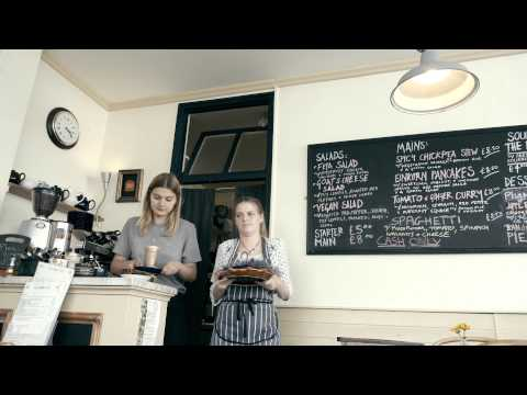 60 Second London Cafes Guide featuring Blue Brick Cafe