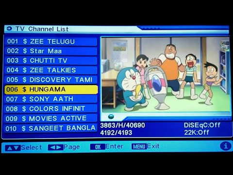 Cartoon channel show encrypt program problem Solved on DD free dish, New  frequency, New Channel 2019