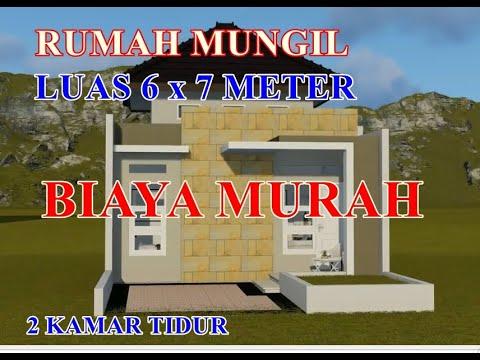 desain rumah kecil 6x7 - youtube