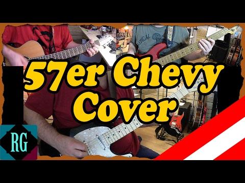★ 57er CHEVY ► OSTBAHN KURTI GITARRE COVER mit TABS/SOLO