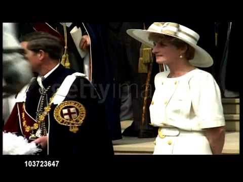 Princess Diana at the Order of the Garter Ceremony
