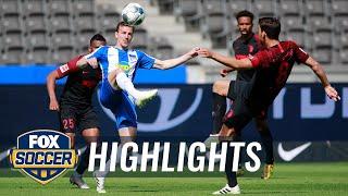 Hertha Berlin Puts Away Augsburg With Krzysztof Piątek Goal In 90th Min | 2020 Bundesliga Highlights