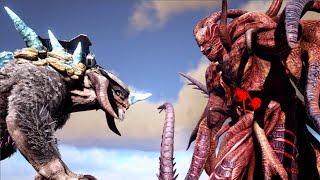 Ice Titan VS Alpha Rockwell (Rockwell Arena)   ARK: Extinction & Aberration   Cantex