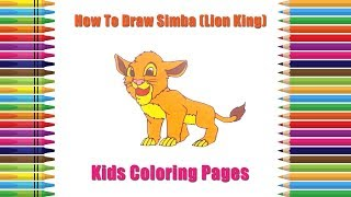 Lion King Simba Drawing Easy | How to Draw Simba From Lion King | Coloring Pages | Drawing For Kids