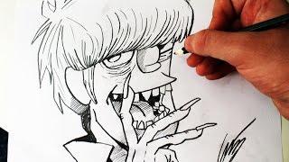 Como Desenhar o Murdoc Niccals [Gorillaz/ Bass] - (How to Draw Murdoc) - SLAY DESENHOS #177