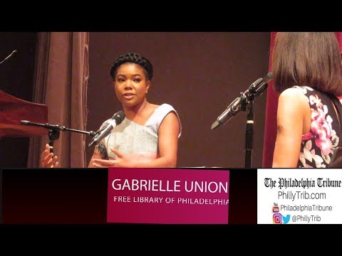 Gabrielle Union at the Free Library of Philadelphia