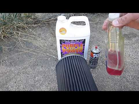 Cheap way to clean a K&N air filter with Purple Power