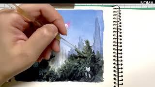 조각 그림 ( Speed Painting ㅣ Watercolor )